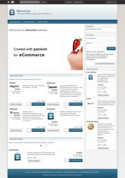 SilverCart 1.2 Webshop Software